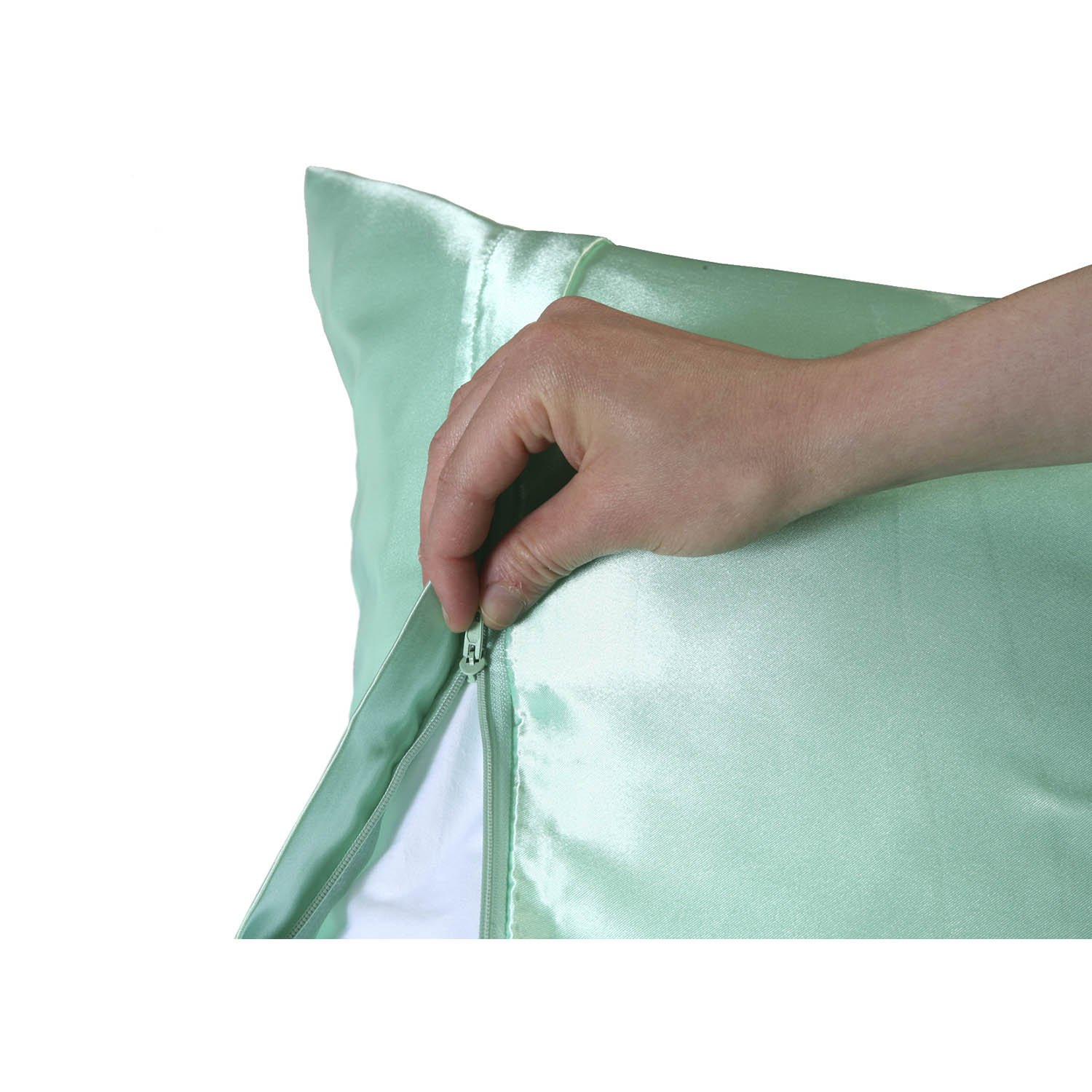 Sweet Dreams 2 Pack Luxury Satin Pillowcase With Zipper