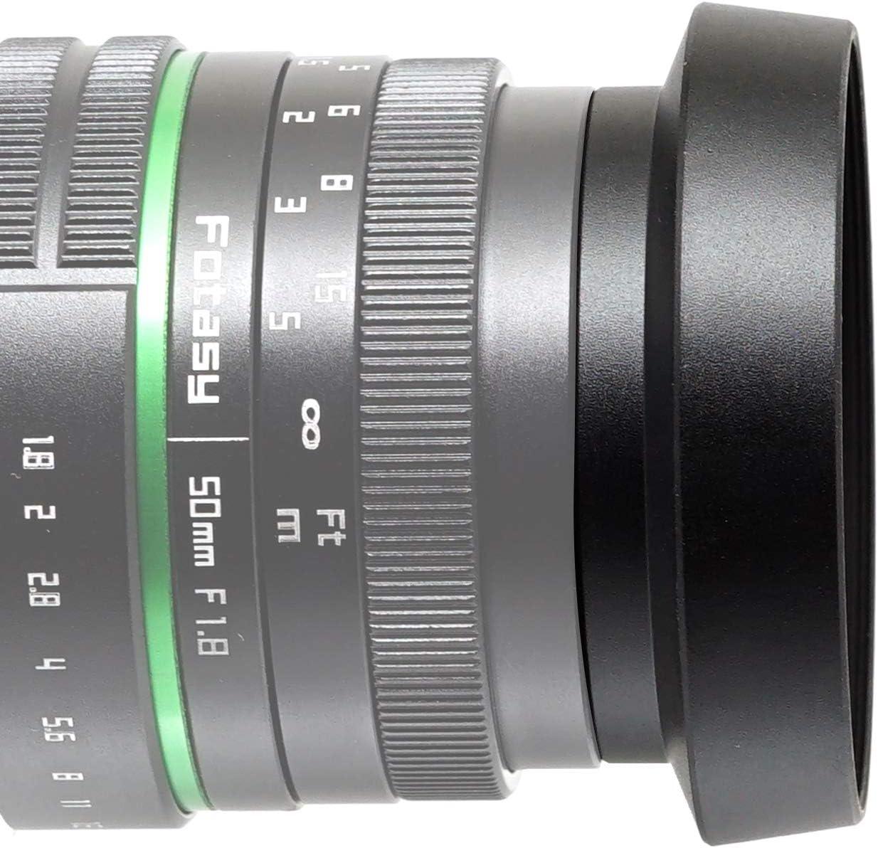 46mm Curved Lens Hood Panasonic 20mm f1.7 Lens Hood Fotasy Metal Screw-In Lens Hood for Panasonic Lumix 14mm F2.5 //Panasonic 20mm f1.7 Lens// Leica DG 25mm F1.4 Lens// Olympus M.Zuiko 17mm f1.8 Lens