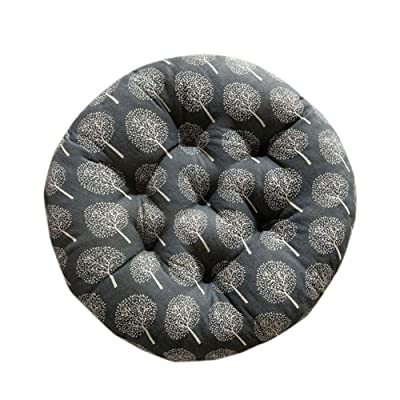 Leono Freedi Round Seat Cushion - Chair Pad Cotton Filled Boosted Cushion Indoor Chair Pad for Office Kitchen Garden (20 inches in Diameter): Home & Kitchen