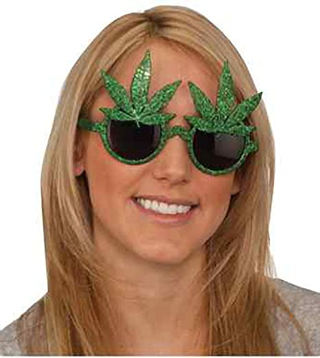 Amazon.com: Anteojos Power Star Adulto Pot Leaf, gafas de ...