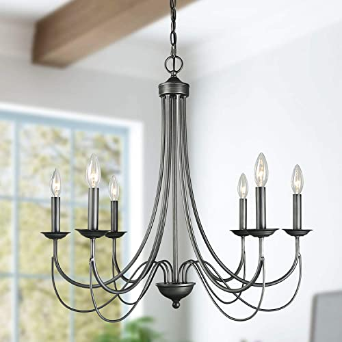 6-Light Farmhouse Dining Room Lighting