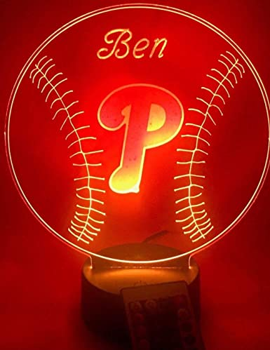 Amazon.com: Phillies MLB - Lámpara de mesa LED ...