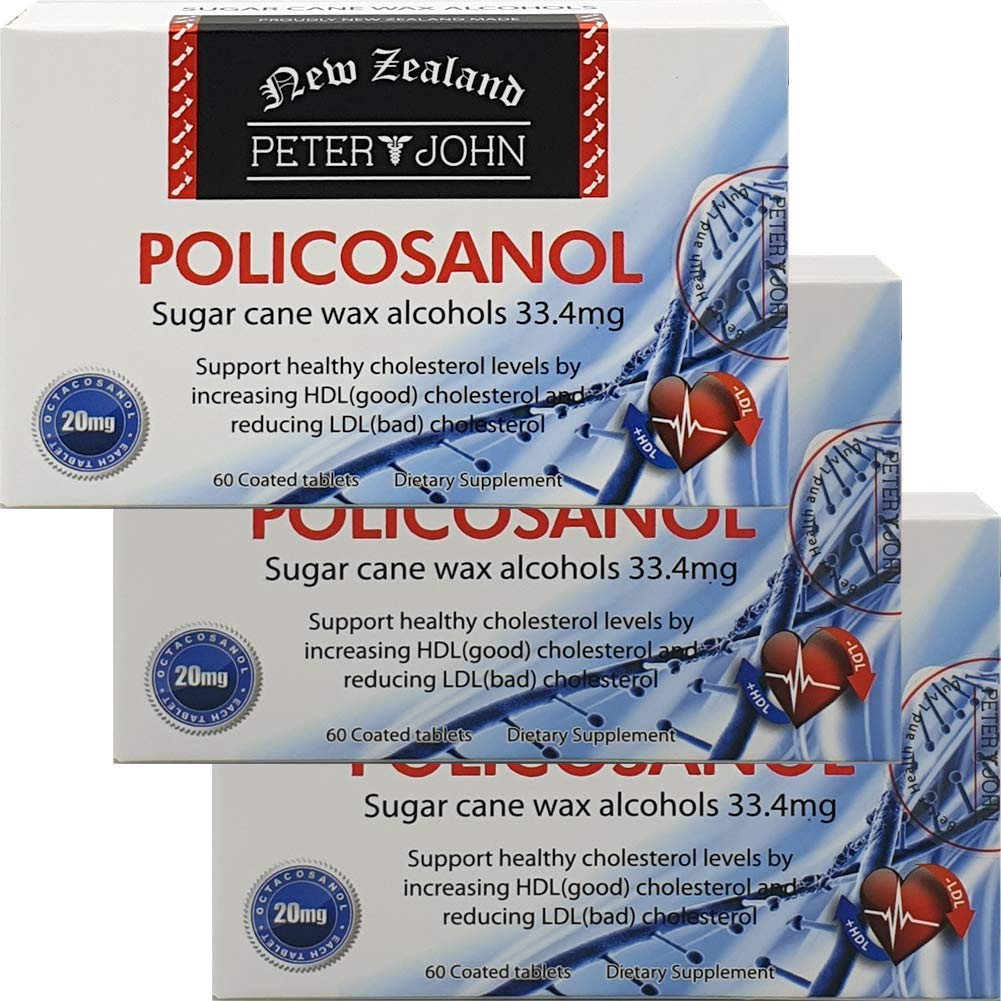 Peter&John Policosanal 33.4mg 60Tablets Support Healthy Cholesterol-Levels (3 Pack)