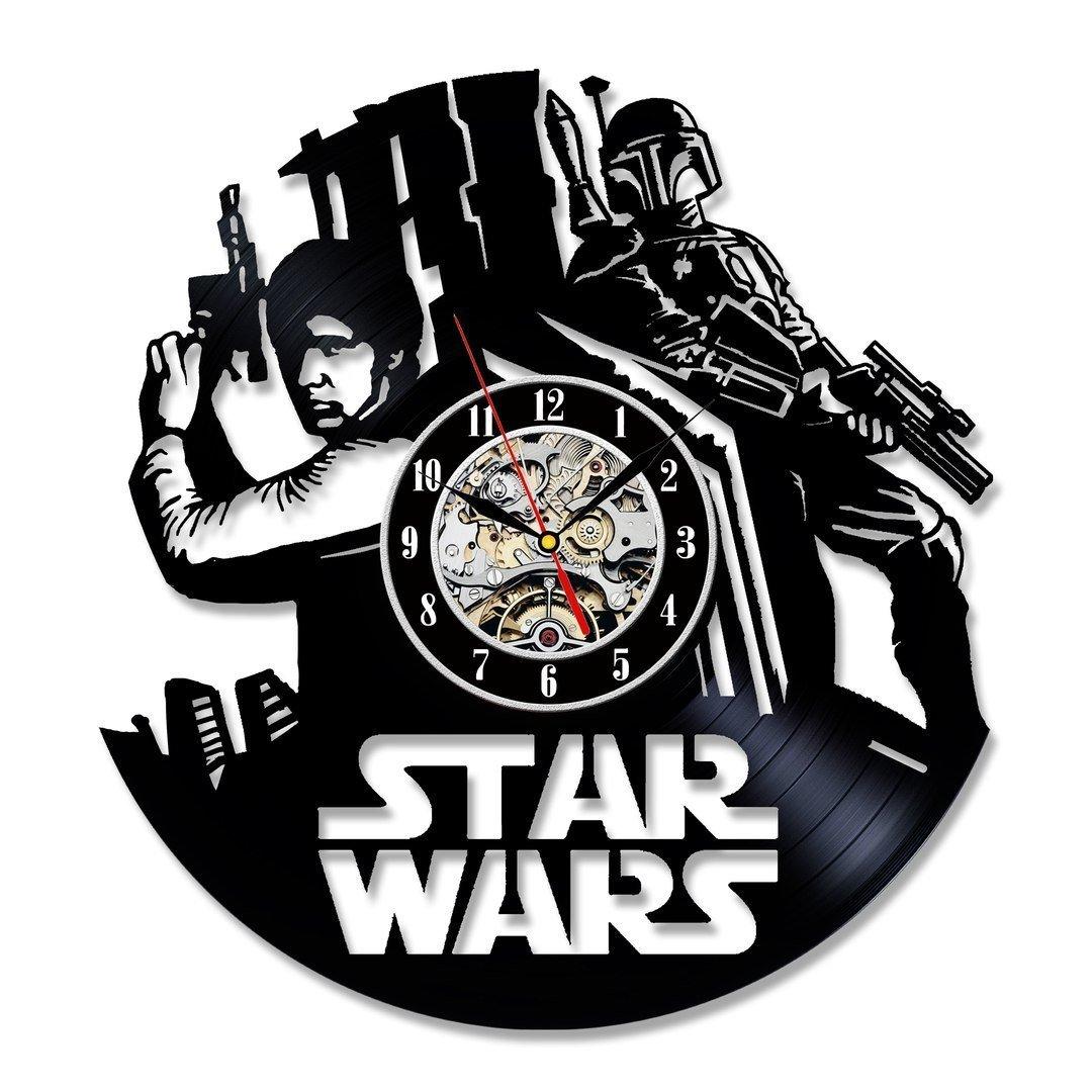 Boba Fett Bestseller Star Wars Gift Vinyl Record Wall Clock Fan Black Room Decor Idea star wars gifts adult