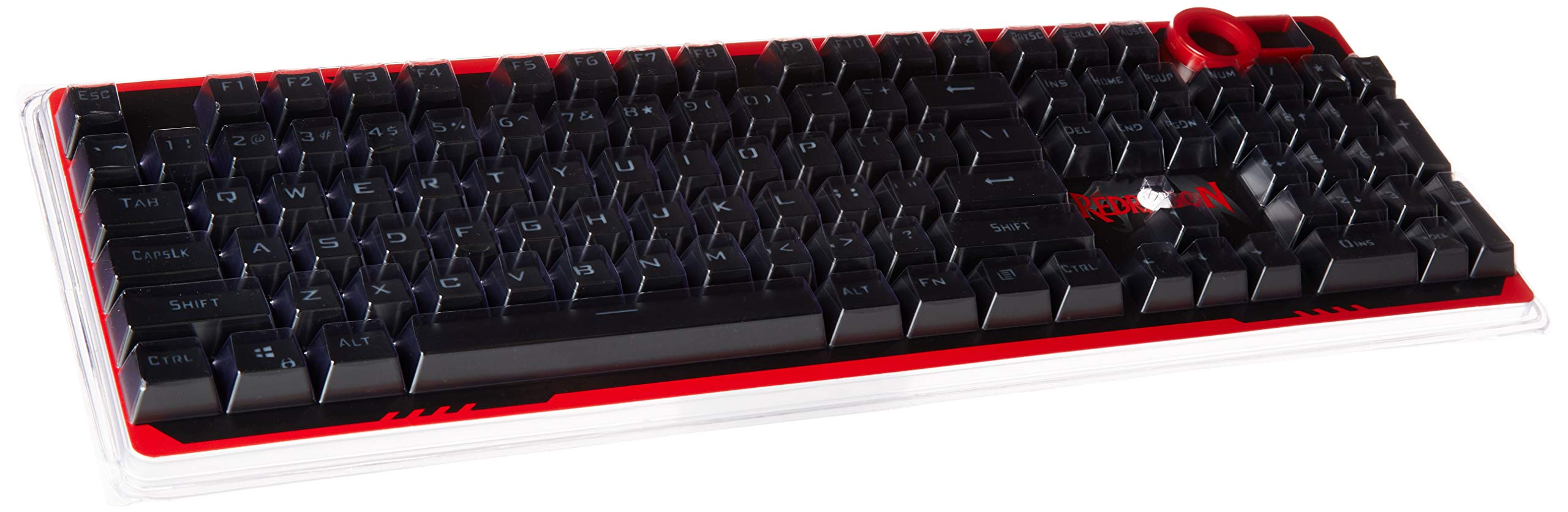Redragon A101 Replacement Keycaps,104 Keyboard Keycaps, Cherry MX Compatible, Mechanical Keyboard Keycaps Inclusive Keypuller for Mechanical Keyboard (Black)