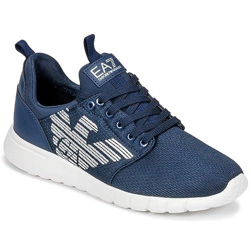Emporio Armani EA7 X8X007 XCC02 - Zapatillas para Correr, Color Azul Oscuro: Amazon.es: Zapatos y complementos