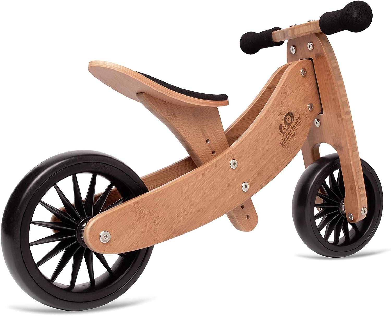 Kinderfeets, bicicleta de equilibrio Tiny Tot Plus, asiento ajustable, neumáticos a prueba de pinchazos, bicicleta de entrenamiento sin pedales para niños y niños a partir de 18 meses