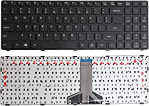 GinTai US Layout Keyboard Replacement for Lenovo Ideapad 100-15IBD 80QQ 80QQ00E6US B50-50 SN20J78609 V6385H-US W/O Backlit