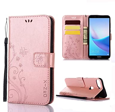 Cell Phones & Accessories Cell Phone Accessories For Huawei Y7 Prime 2018 Shockproof Premium Leather Wallet Stand Flip Case Cover