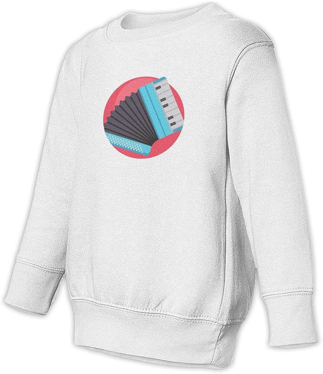 Accordion Unisex Toddler Hoodies Fleece Pull Over Sweatshirt for Boys Girls Kids Youth