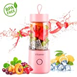 Portable Blender Vitamer Personal Fruit Mixer six Blades with USB Rechargeable for for Smoothies, Milkshake, Fruit…