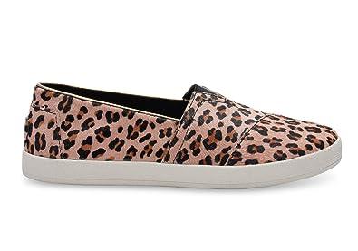29bf51f38e6f2 Amazon.com | TOMS Women's Leopard Printed Calf Hair Avalon 10006325 ...