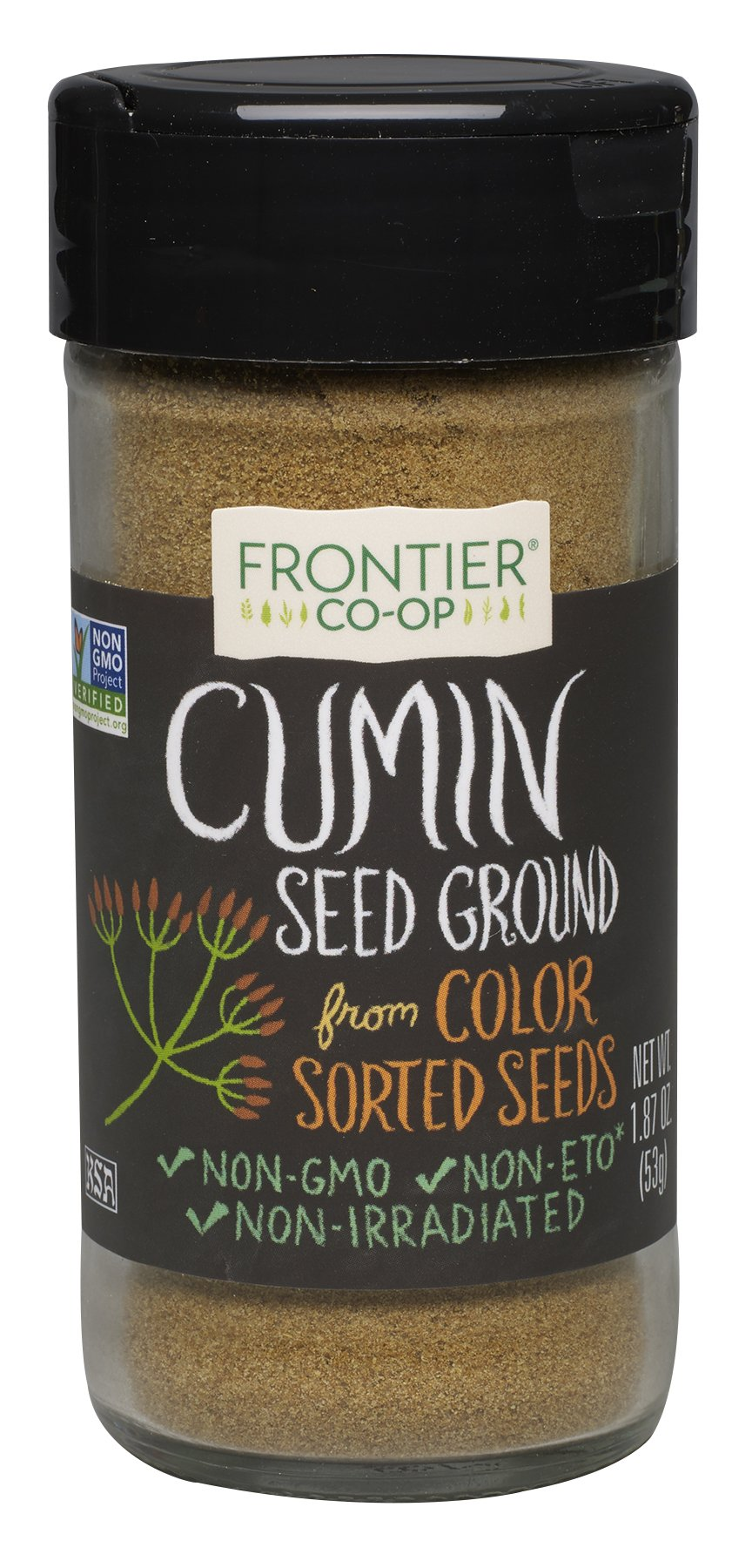 Frontier Culinary Spices Ground Cumin, 1.87-Ounce Bottles (Pack of 6)