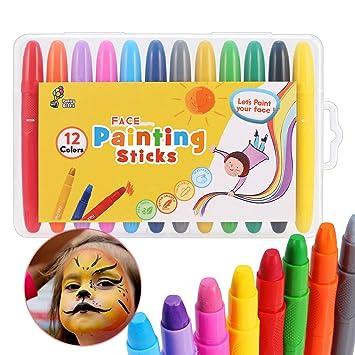 Crayones de Pintura para la Cara fácil y Lisa 12 Colores ...