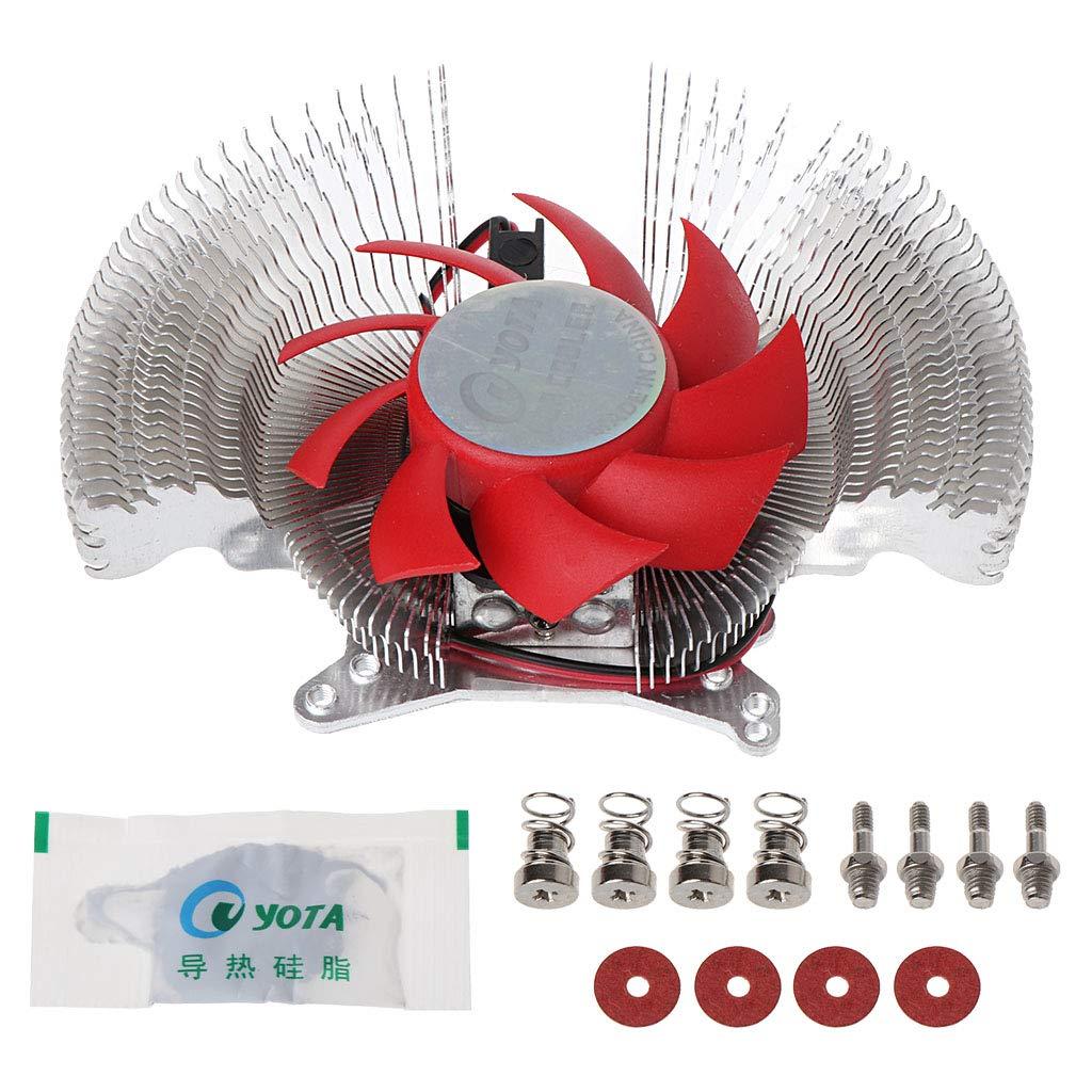 QTJUST VGA PC Computer Video Card Cooler Cooling Fan Heatsinks for NVIDIA ATI Geforce