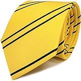 TigerTie - corbata estrecha - amarillo dorado azul oscuro rayas ...