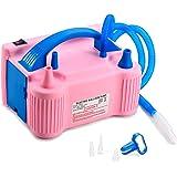 MESHA Electric Balloon Pump Air Pump Inflator Portable Dual Nozzle Pink Air Balloon Pump Filler Inflator/Blower for for…