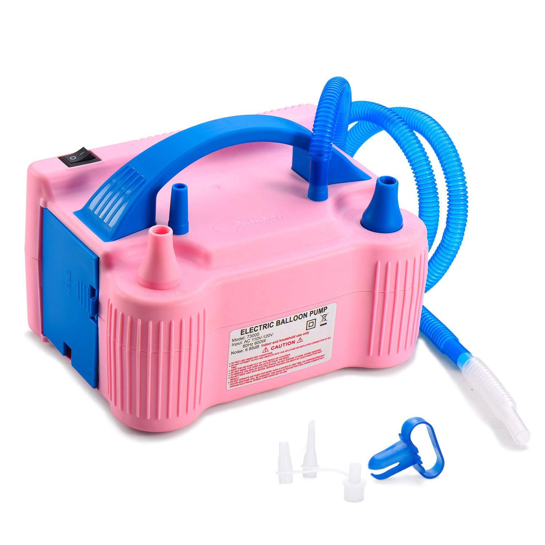 MESHA ポータブル デュアル ノズル レッド ローズ 電動 空気 バルーン ポンプ フィラー リンフレーター/ブロワー パーティー装飾 110V 600W 空気ポンプ   B07NP45757