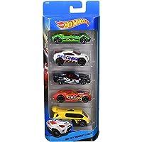 Pacote 5 Carros Sortidos, Hot Wheels, Mattel - não é possível escolher as cores