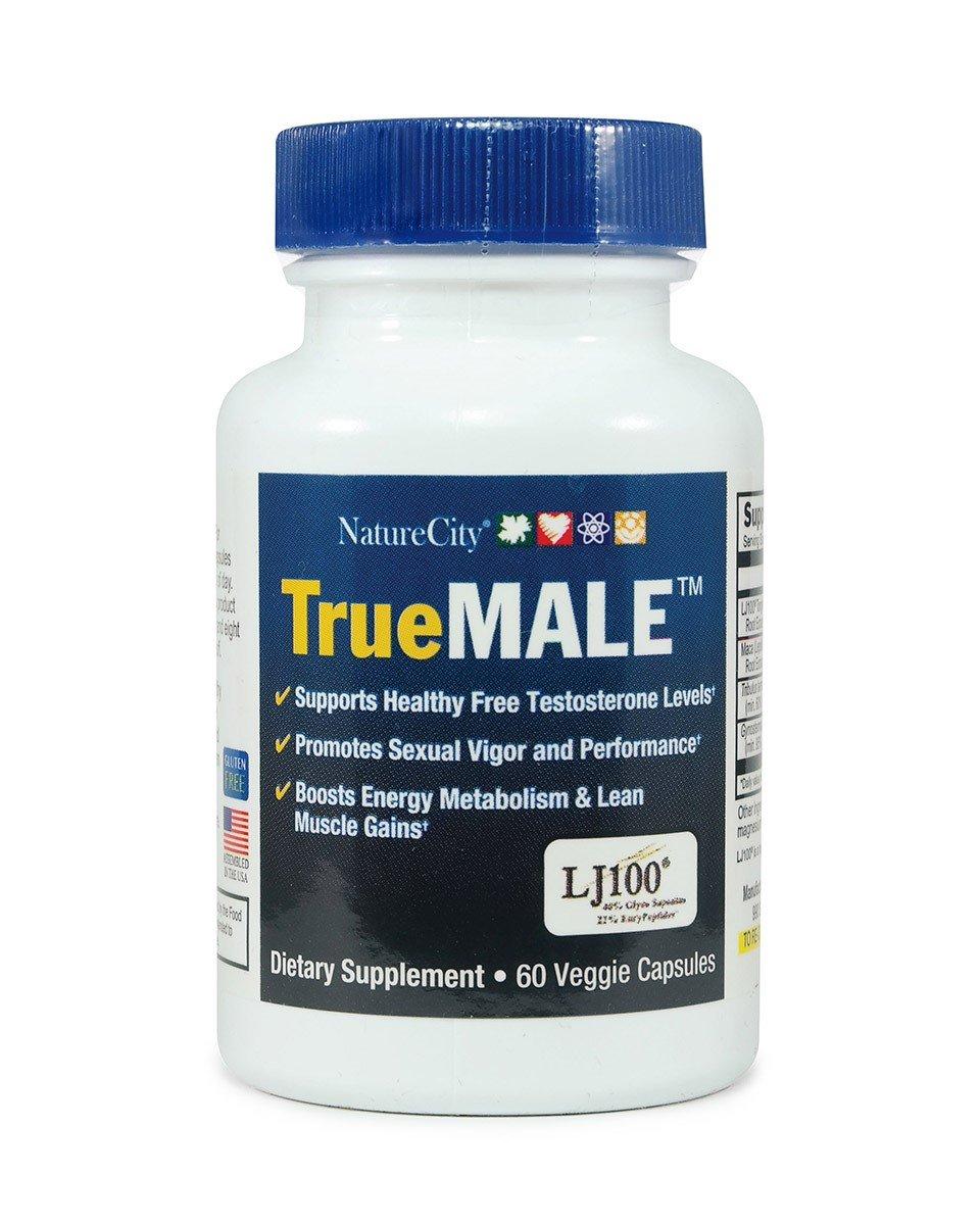 TrueMale - Testosterone Support – Featuring Tongkat Ali, Maca, Tribulus Terrestris – 60 Capsules