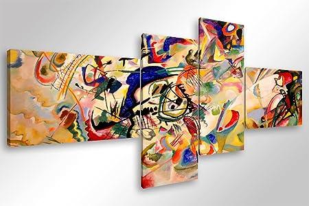 Quadro Moderno Stampa Su Tela.Quadro Moderno Kandinsky Composizione Vii Cm 160x70 Stampa Su