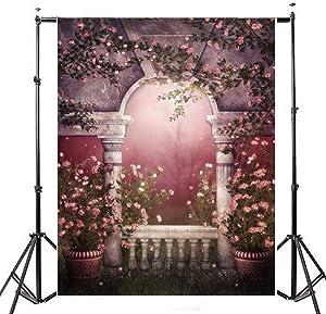 1.5x2.1m Photography Vinyl Background Garden Pots Romantic Wedding Props