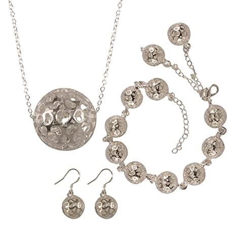 5271a032d62e joyliveCY-la moda mujer elegante 925 pendientes ba ados en plata Juego de  collar