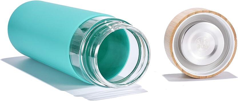 Amazon.com: Yomious - Botella de agua de vidrio de ...