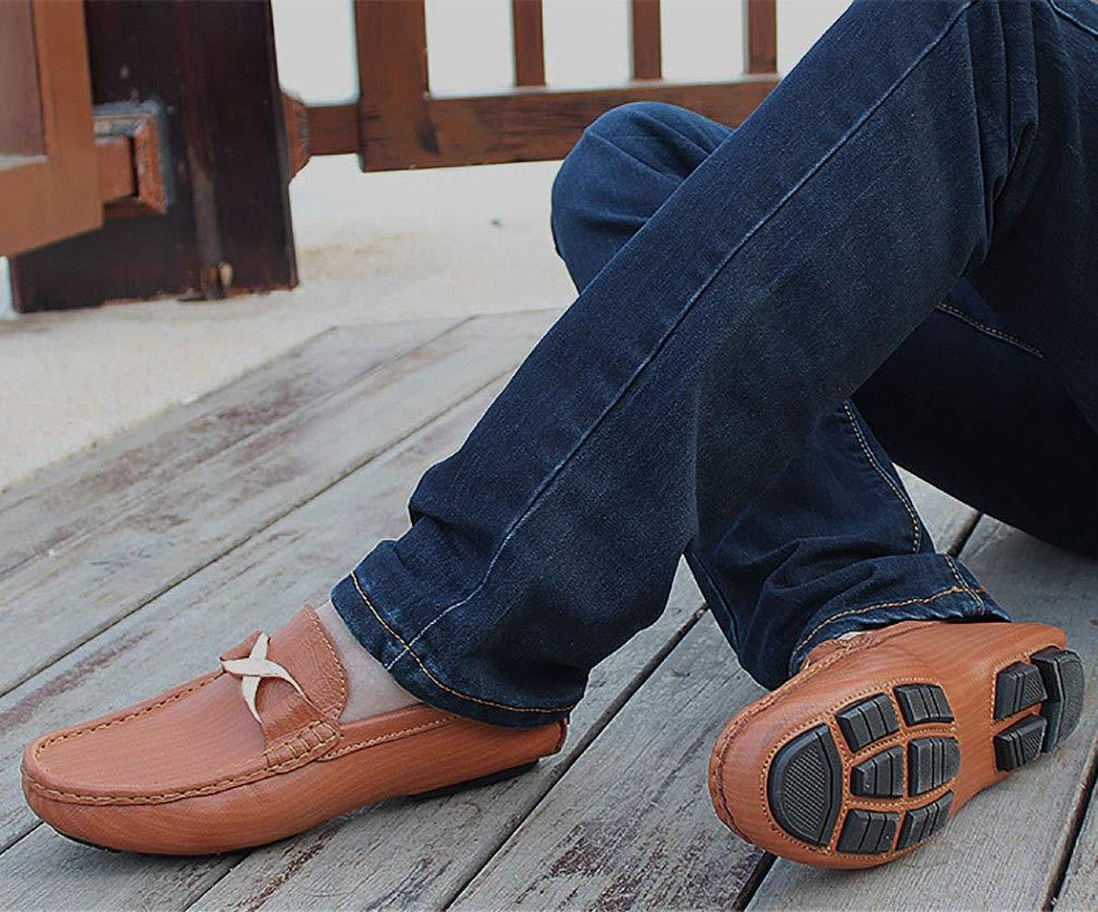 YAN Neue Schuhe/Herren   Herren Leder Schuhe/Herren Neue Schwarz Slip auf Breiter Passender Freizeitschuhe Fahr Schuhe Mode Frühling & Herbst (Farbe : Ein, Größe : 43) B 2077d5