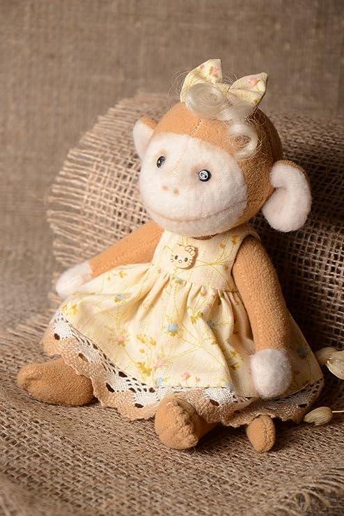 Juguete de peluche mono hecho a mano muneco para ninos regalo original