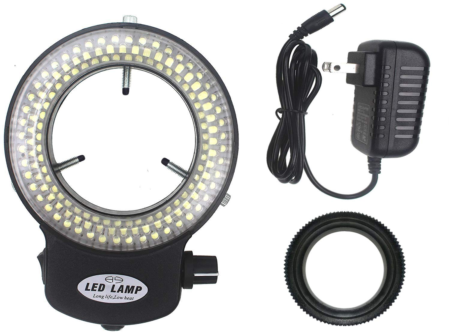 LED-144-ZK Black Adjustable 144 LED Ring Light Illuminator for Stereo Microscope (Black) by Sweet Melodi