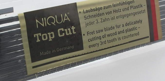 Laubs/ägebl/ätter NIQUA FIX GELB Holzlaubs/ägebl/ätter Nr 8 Abmessung 0,44 mm x 1,20 mm Dutzend