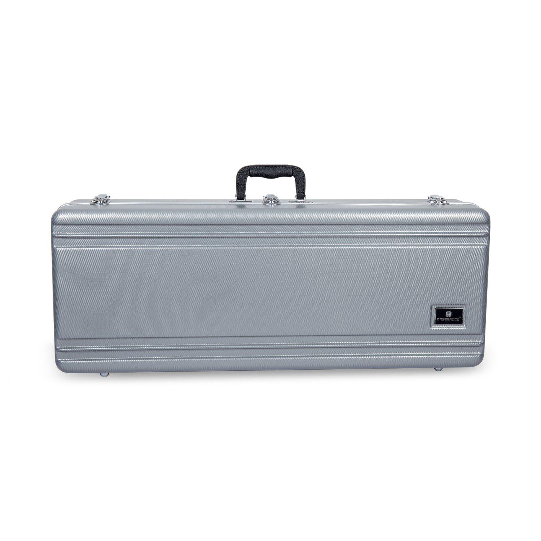 Crossrock CRA860TSSL-R Tenor Saxophone Case- Rectangular ABS Molded with Single Shoulder Strap, Silver