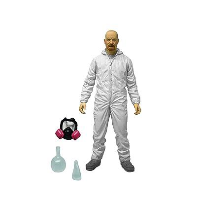 "Mezco Toyz Breaking Bad 6"" Walter Hazmat Figure (White Suit): Toys & Games"