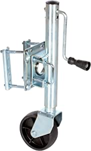 "Vestil TJ-06 Side Swivel and Wheel Trailer Jack, 800 lbs Capacity, 10"" Lift Range"