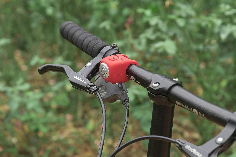 ROCKBROS Timbre Electr/ónico para Bicicleta 75dB Mini E-Bell Impermeable IPX4 El/ástico de Silicona