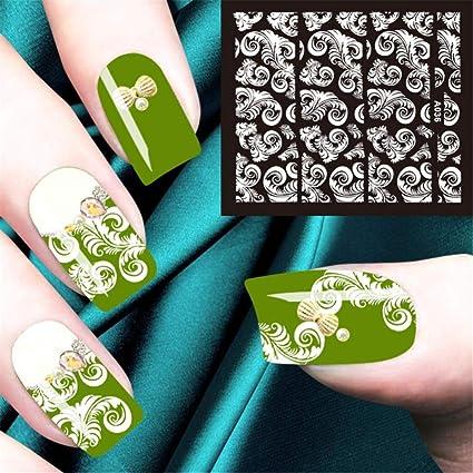 Nail Art Stickers, Decoración de uñas pegatinas de uñas para niñas y calcomanías gato arte