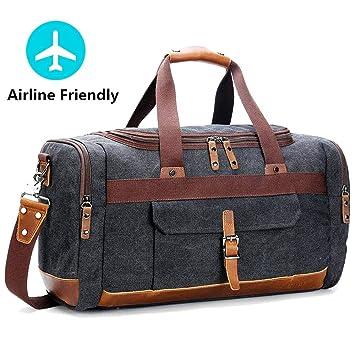 8e0cb1644e0 MOCA Canvas Men Women Luggage Travel Duffel Bag Shoulder Bag up to 40L -  50L 40