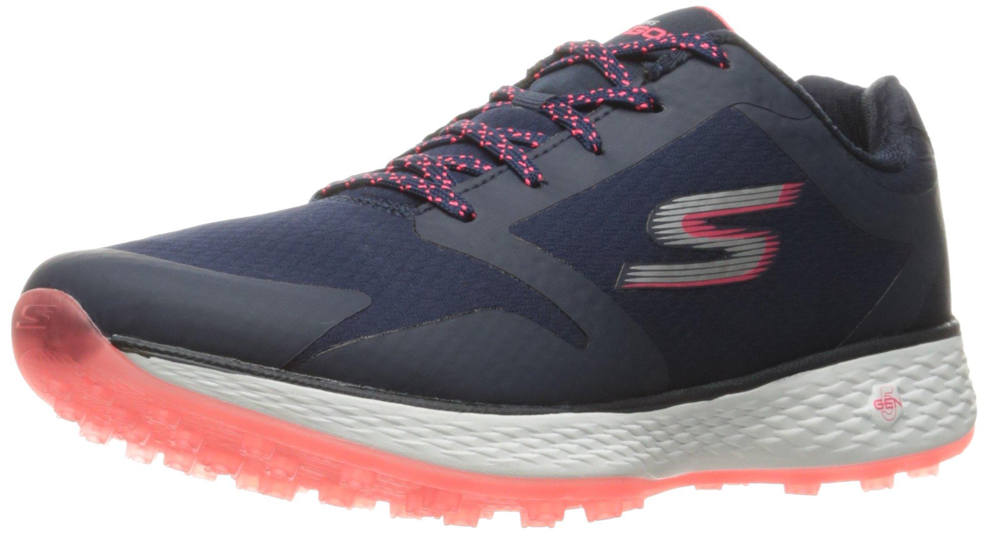 Skechers Performance Women's Go Golf Birdie Golf Shoe,Pink/Navy,7.5 M US