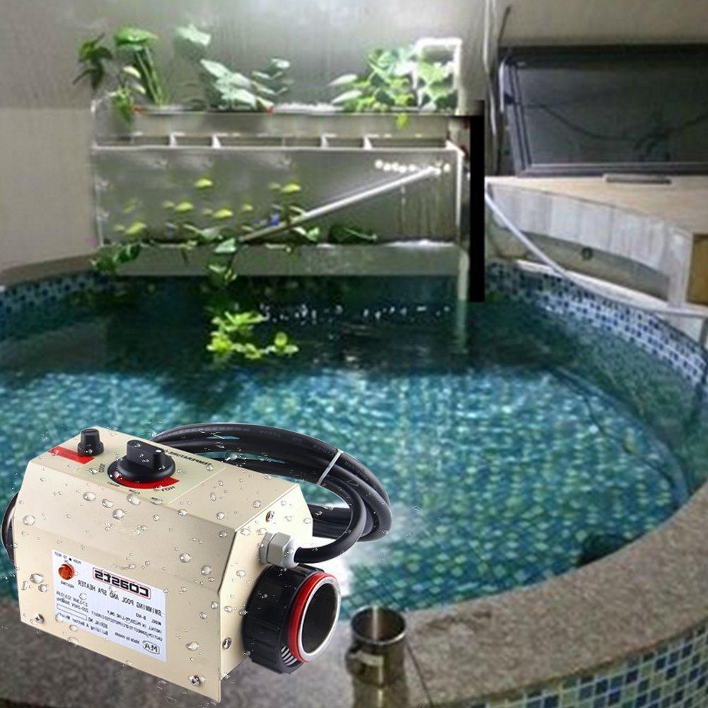 JIAN YA NA Termostato del calentador de agua de la calidad superior Termóstato de la piscina de 220V 3KW Baño del BALNEARIO Calentador portátil de la ...