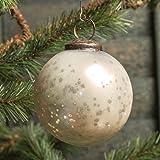3 In White Mercury Glass Kugel Ornament Set/6