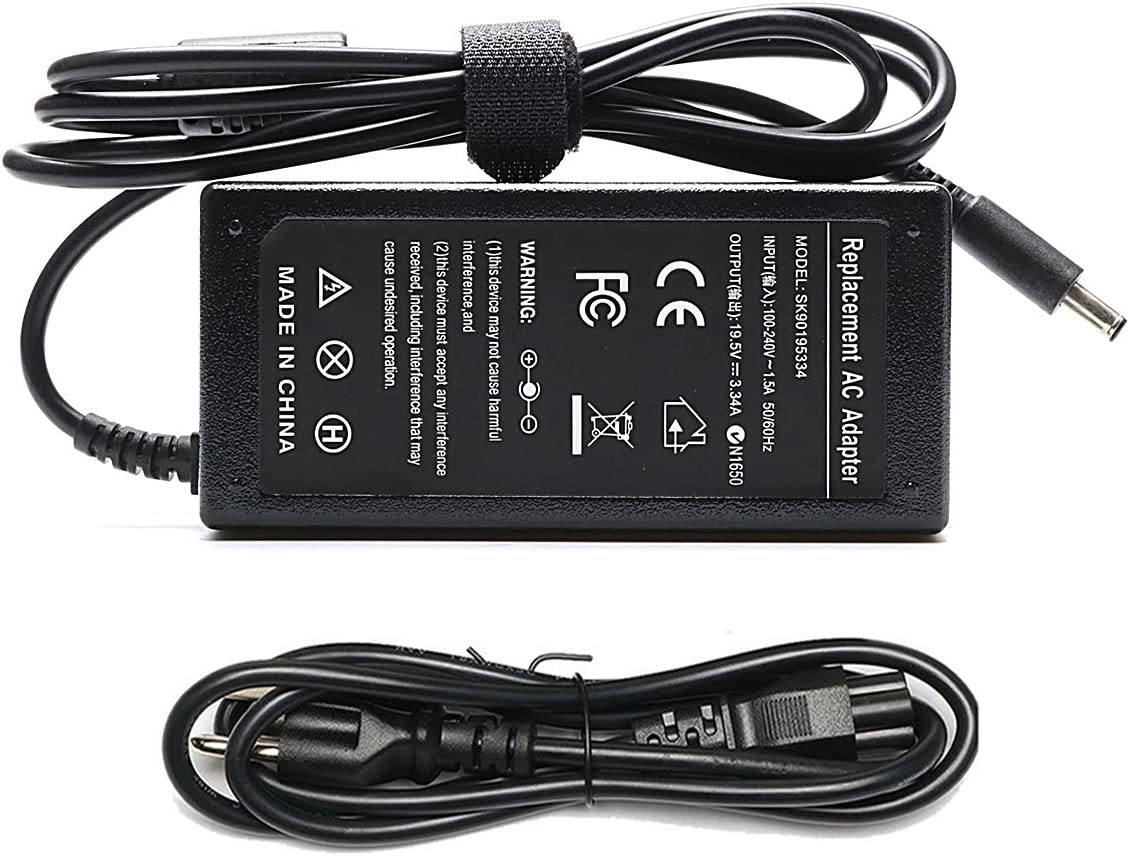 65W AC Adapter Laptop Charger Compatible for Dell Inspiron 15 5558 5559 5567 5568 3567 5565 3558 5551 5555 7560 7570 7579 7569 3551 3552 3565 Series Charger 17 5767 5755 5758 5759 Power Supply Cord