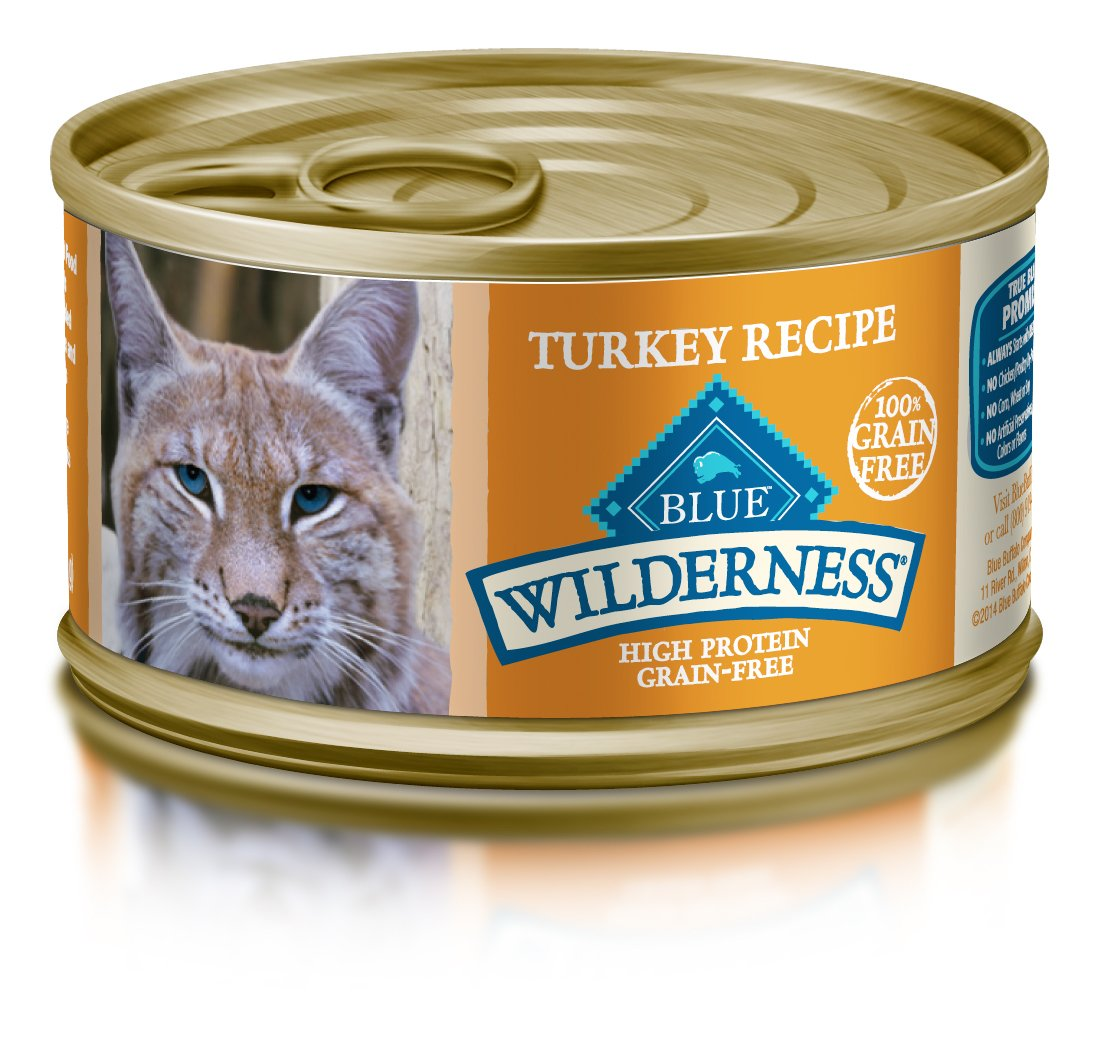 Blue Wilderness Adult Grain Free Turkey Pate Wet Cat Food 3-Oz (Pack Of 24) by Blue Buffalo