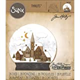 Sizzix 662421 Fustelle Thinlits Set 26 Pezzi-Globo di Neve N.2 di Tim Holtz, Acciaio, Multicolore, 19.1x14.4x0.4 cm