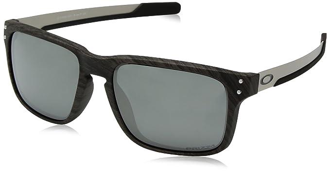 75bd479e43637 Oakley Holbrook Mix 938404, Gafas de Sol para Hombre, Plateado, 57   Amazon.es  Ropa y accesorios