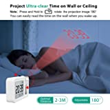 Hosome Projection Alarm Clock, Digital Alarm