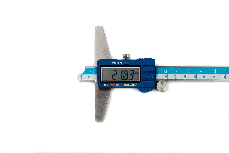 DML 150/mm 15,2/cm Digital Jauge de profondeur en acier inoxydable 12/mois de garantie