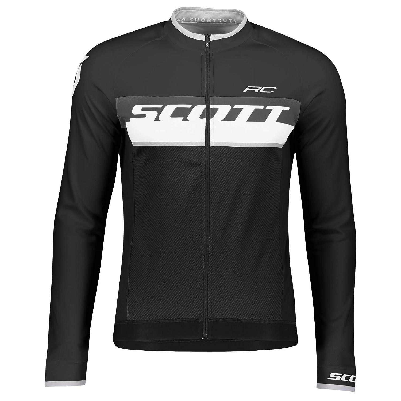 Scott RC AS Winter Fahrrad Trikot schwarz//wei/ß 2019 50//52 L Gr/ö/ße