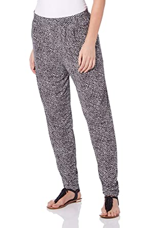 6a5f31550f3 Roman Originals Women Animal Leopard Print Hareem Trousers - Ladies Full  Length Long Harem Pants Summer Casual Going Out Jersey Relax Yoga Trouser   ...