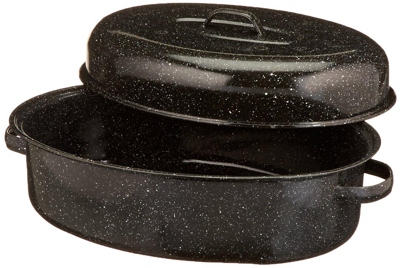 Granite Ware 18-Inch Covered Oval Roaster by Granite Ware